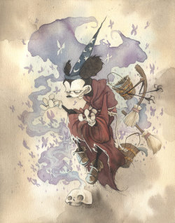 Mickey the Conjurer by Gris Grimly posted by ianbrooks.me