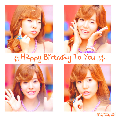 sophietaeganger:  Happy Birthday To You - Sunny Ah!!~~~~