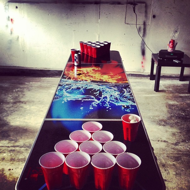 This is my Saturday? #beer #beerpong #saturday #birthday  (at 1846)