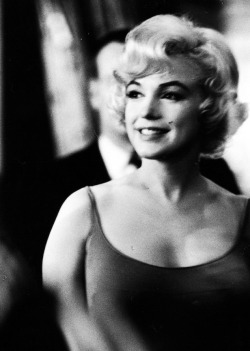 Marilyn Monroe on the set of Let's Make Love, 1960.
