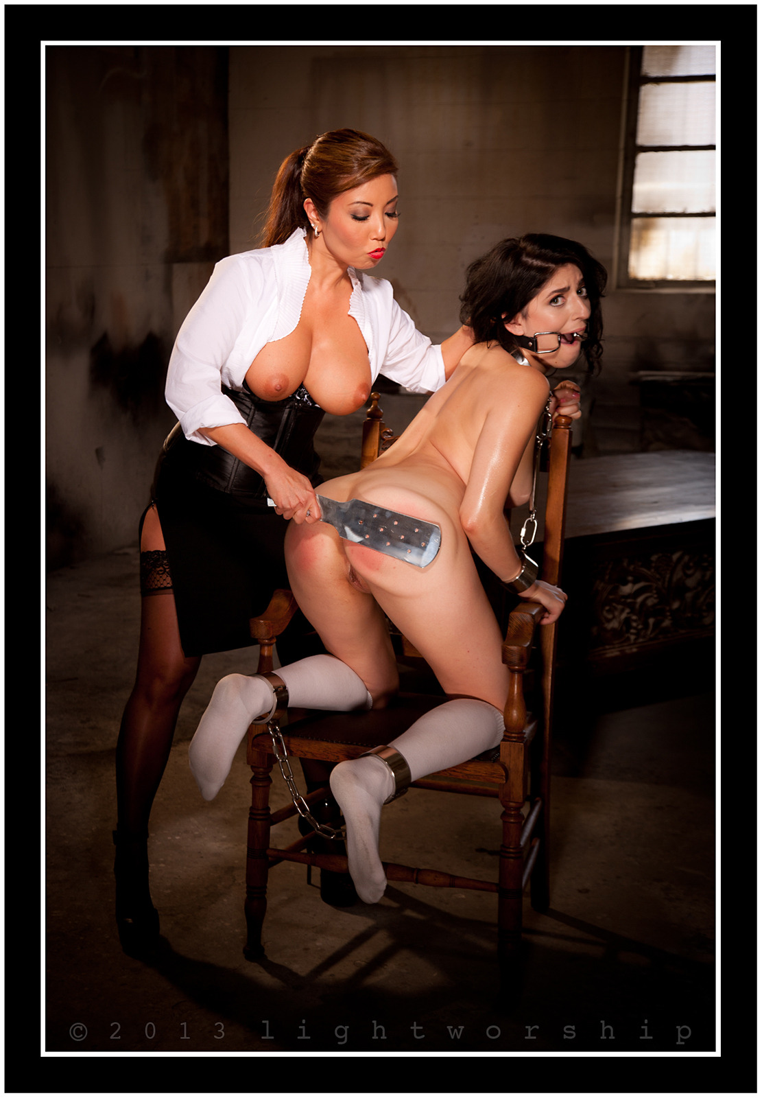 Akira Lane shows Lexy Rose she can Dish it Out as well. ©2013 LIGHTWORSHIP-