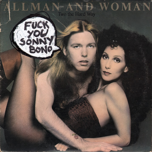 defacevalue:  Duane Allman and Cher LP as found.