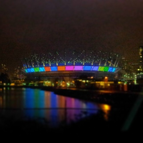 Beautiful @BCPlace at night! #Vancouver #downtown
