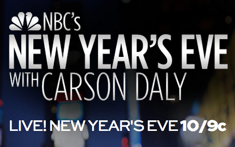 What are your New Year's Eve plans for tonight? If you want us at your party all you have to do is turn on your TV to see us perform live from Times Square on NBC's New Year's Eve with Carson Daly. Tune in at 10/9c tonight, see you there!