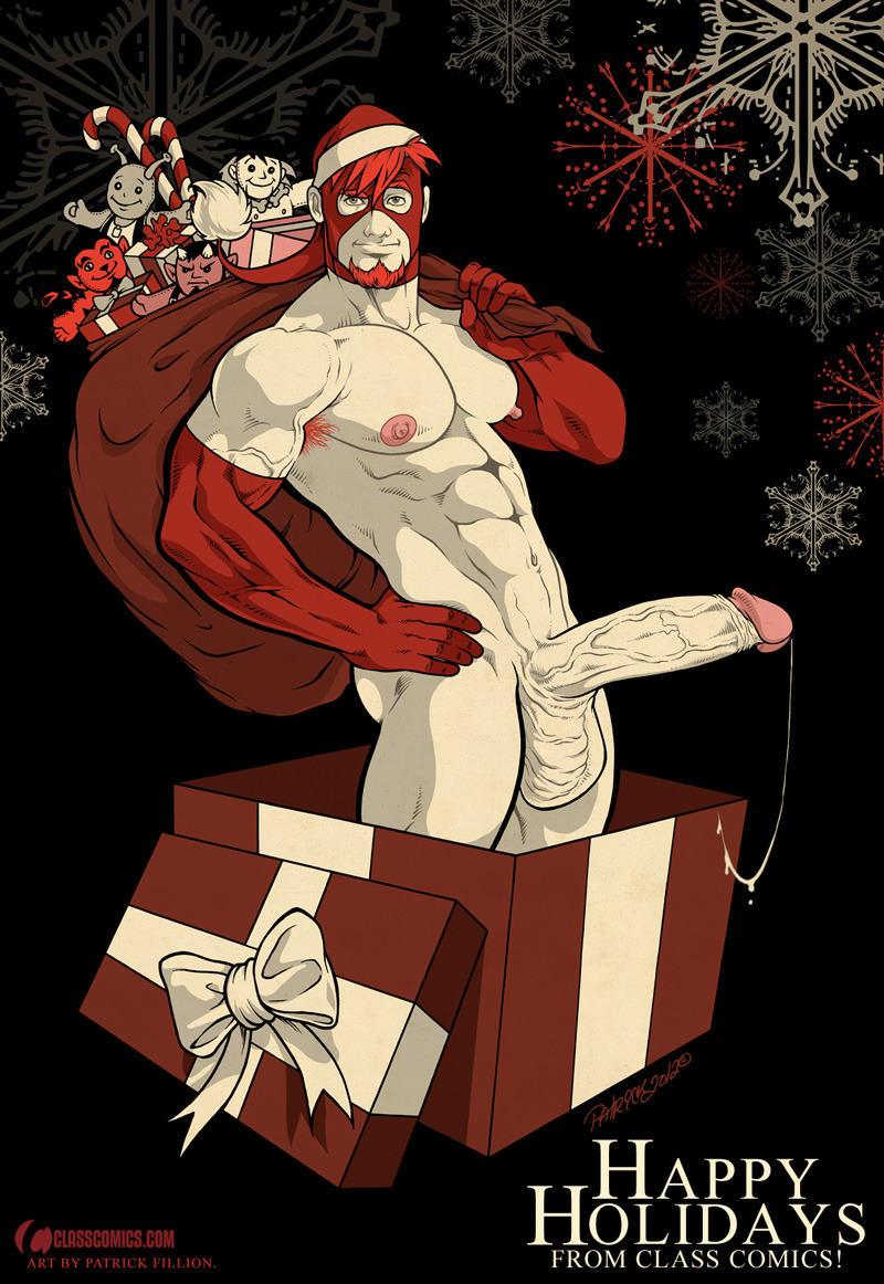 classcomics:  HAPPY HOLIDAYS from CLASS COMICS!  Wishing you all the very best the 2012 Holiday Season has to offer, and may your 2013 be nothing short of AWESOME!! :D Naked Justice illustration by Patrick Fillion.  Naked Justice, Camili-Cat, Deimos, Locus and Zahn are © Copyright & TM 2012, Class Comics Inc. All Rights Reserved.