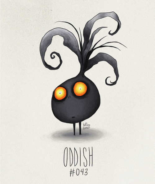Oddish #043 Part of The Tim Burton x PKMN Project By Vaughn Pinpin
