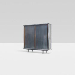 Jean Prouvé | ARMOIRE, NO. 101 France, 1952 aluminum, oak, enameled steel