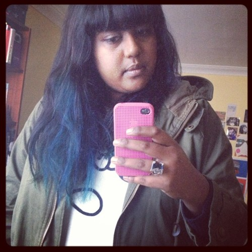 💚Blue/green hair 💙 #hairdye #diy #fresh