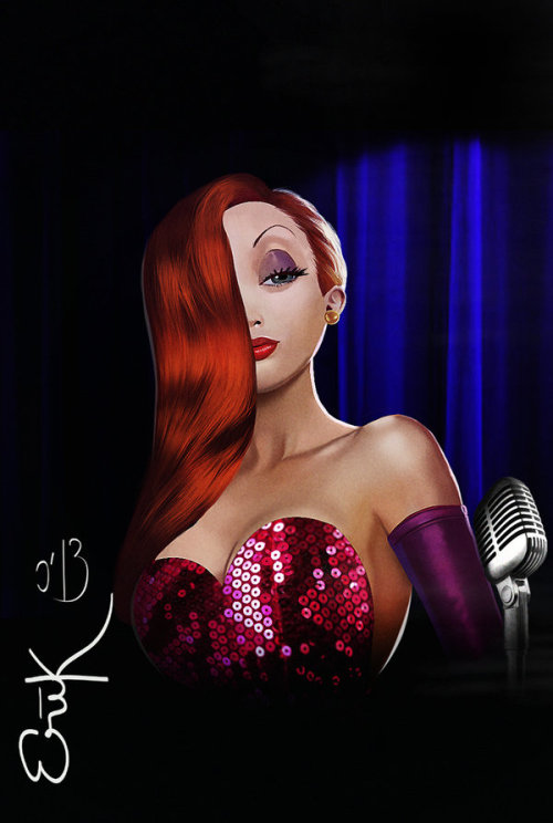 Mrs Rabbit Jessica Rabbit art by ~MrRabLo