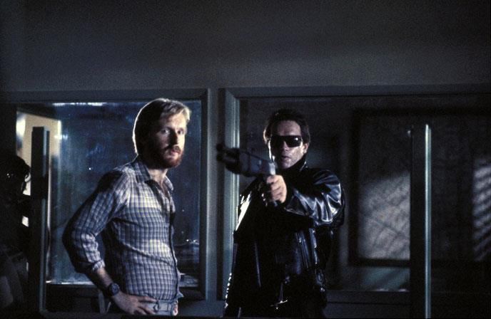 "strikingtheset:   ""Casting Arnold Schwarzenegger as our Terminator, on the other hand, shouldn't have worked. The guy is supposed to be an infiltration unit, and there's no way you wouldn't spot a Terminator in a crowd instantly if they all looked like Arnold. It made no sense whatsoever. But the beauty of movies is that they don't have to be logical. They just have to have plausibility. If there's a visceral, cinematic thing happening that the audience likes, they don't care if it goes against what's likely.""  — James Cameron on casting Schwarzenegger"