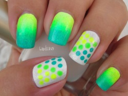 linda165:  Neon Dots Tutorial here  Cool neon nails