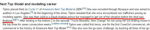 Analeigh Tipton's Modeling Career section on her Wikipedia page.