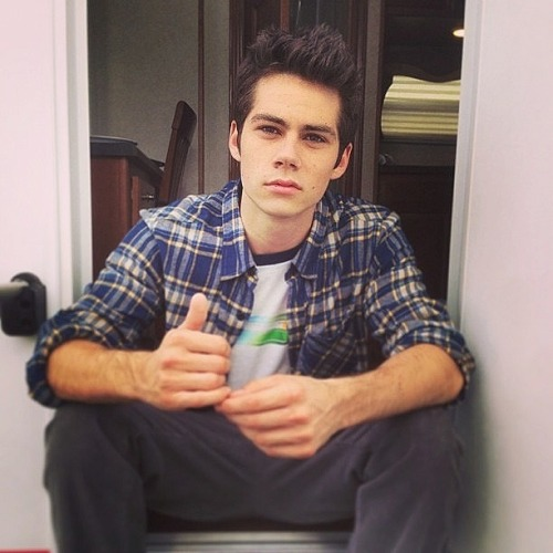 "teenwolf:  ""Morning with Dylan on the Teen Wolf set. Looking kind of James Dean."" -Jeff Davis More pics here: http://on.mtv.com/10a4Eeo"
