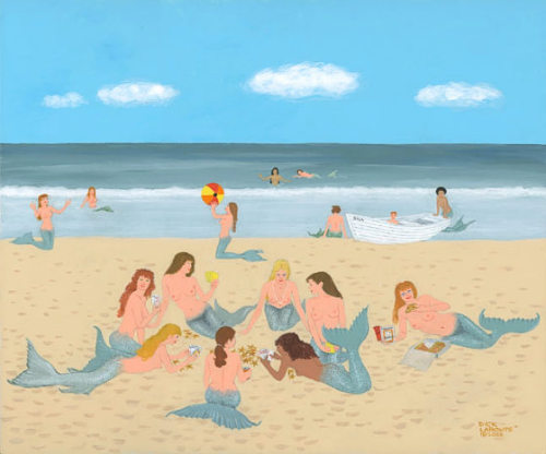 """ The Morning After Labor Day ""   ….  At the Jersey Shore by Artist:  Dick LaBonte  (c) 2003"