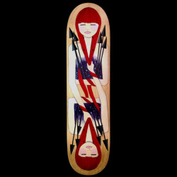 Sagittarius Hand-painted, acrylic on wood skate deck. One of a kind. (If interested in purchasing, you can contact me: hello@somaramos.com)