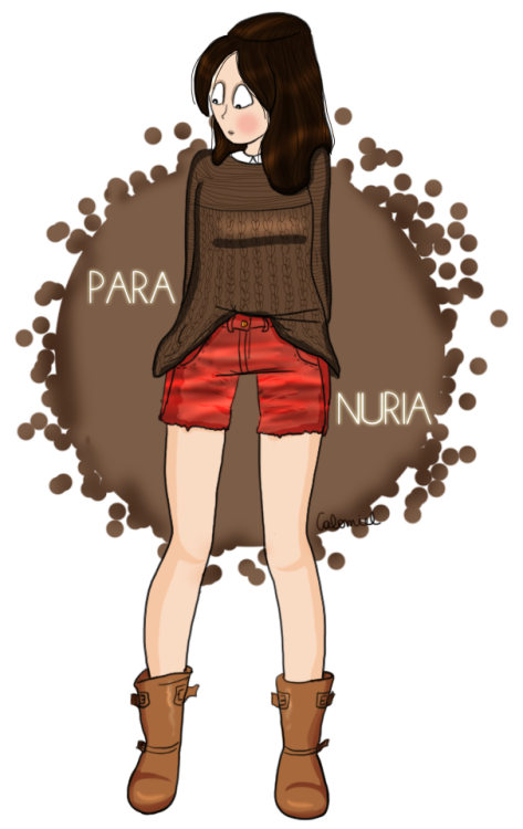 My first fashion drawing for the Spanish Nuria ! Her blog : www.nuriajuangran.com !
