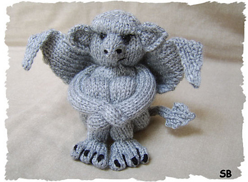 "fastknitter:  ""My little Gargoyle"" by Phoeny (via Ravelry)"