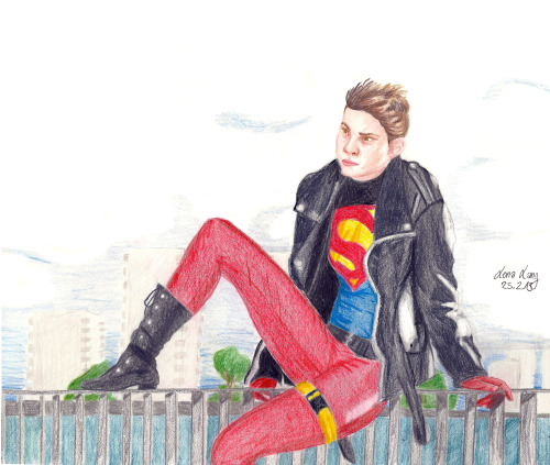 "zitronenlimo:  Lilprince Superboy Cosplay drawing. original  belongs to lilprince!!! I really wanted to draw ""realistic"" humans again but still something comicish and then thought ""Why not draw a cosplayer!"" And so I took one of my favorite cosplays from lilprince and tried to draw it. This is the result. It was real fun and I'm thinking about drawing more cosplayers c:"