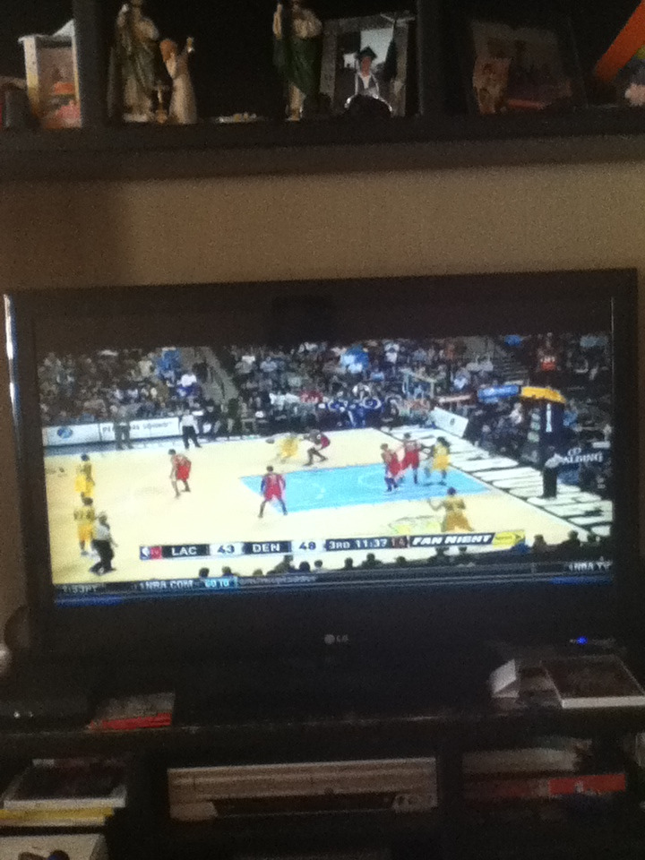 Watching the NBA :)