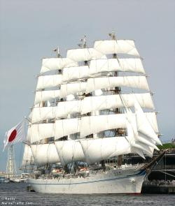 """ Kaiwo Maru ""  …   Sail Training Ship, Yokohama, 2009 …. Photographer:  Rocky Iwakiri"