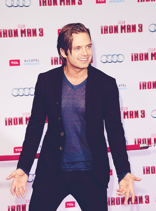 sebastian stan attends the iron man 3 premiere | april 24th, 2013