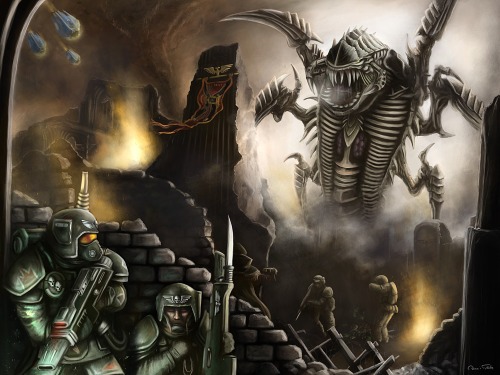 makarov92:  Warhammer 40k: The Tyranid Hive Fleet by ~Jorsch