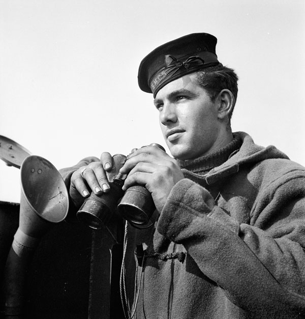 Able Seaman T. Hayes of the 1st Canadian (260th RN) Flotilla, England, 1944