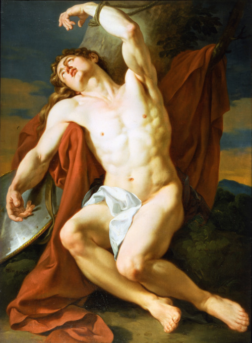 thisblueboy:  Francois-Guillaume Menagoet (French, 1744-1816), The Martyrdom of St. Sebastian. second half of 18th century, Patric and Beatrice Haggerty Museum of Art, Milwaukee, Wisconsin