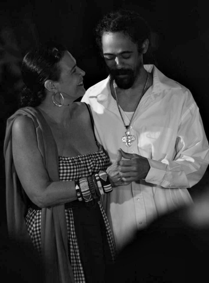 phoenixxstj:  Damian Marley and mother Cindy Breakspeare.