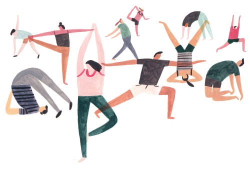charlottetrounce:  Yoga illustration for Felicity J Lord magazine