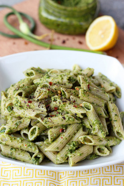 vegan-yums:  Garlic Scape and Swiss Chard Pesto - Gluten-free & Vegan by Tasty Yummies on Flickr.