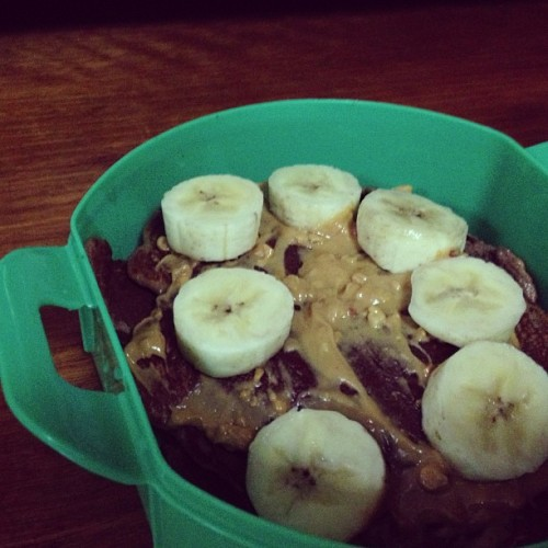 Protein pancake for breakie! #fitness #fitspo #cleaneating #health #peanutbutter