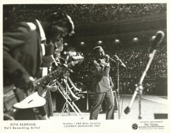 propers to theswinginsixties:  Otis Redding performing at the Atlanta Braves Stadium, 1966.