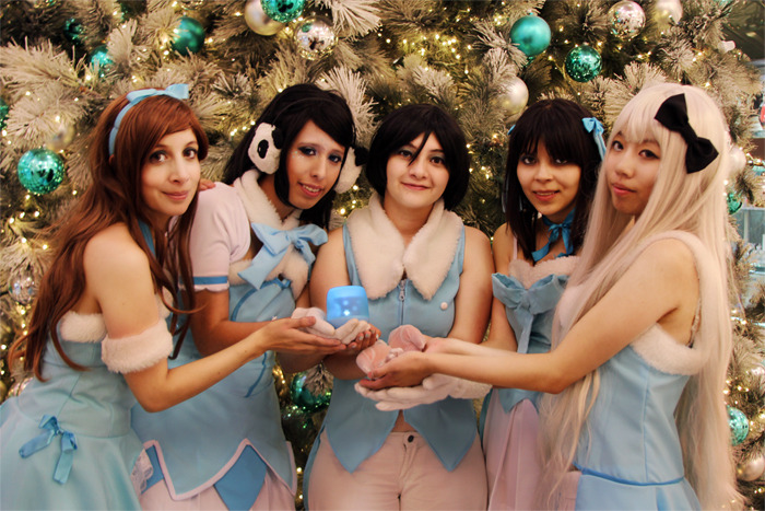 Idol Xmas - Cosplayers Quito Annie, Andre, Taty, Gigi and Kaze