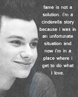 mcginty-damian:  Favourite People → Chris Colfer  I think I just want to leave my mark in some way. I hope I leave the world a better place than it was when I came, and I think the best way I can do that is through acting and writing, and hopefully it will make a difference someday.