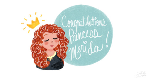 teafromneverland:  In honor of Princess Merida's Coronation :)