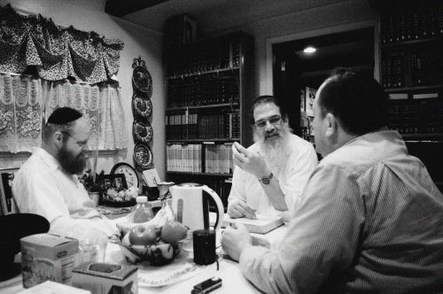 Rabbi Herschel Finman / Teaching Tanya to Michael Barash (Left) and Akiva Whitt (Right) / Oak Park, Michigan / January 22, 2013
