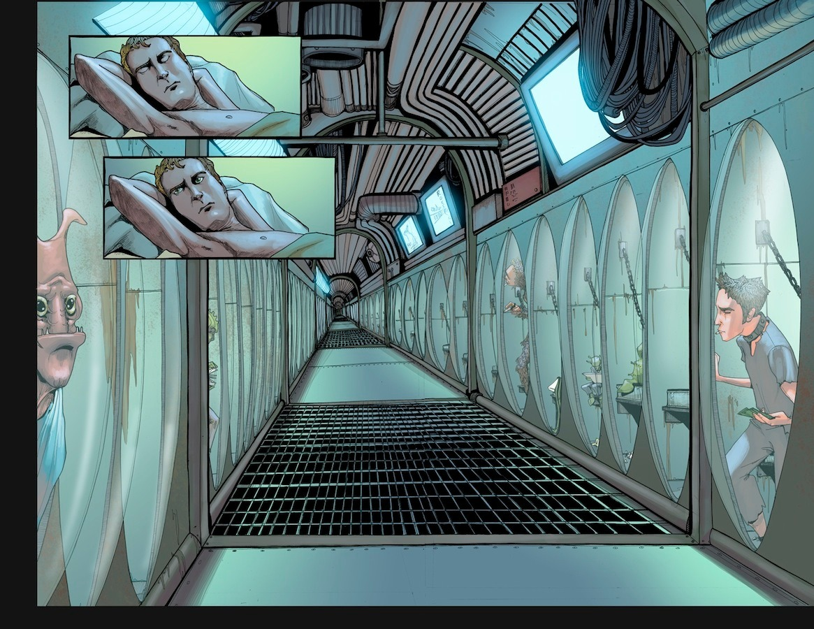 Preview of unlettered interiors of LOST VEGAS by @JimMcCann and @Janet_K_Lee!  Read more here.