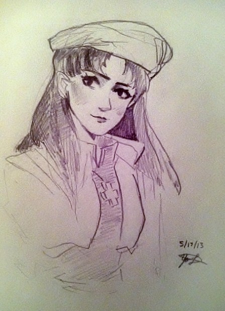 Another eva doodle! Misato is definitely my favorite character.