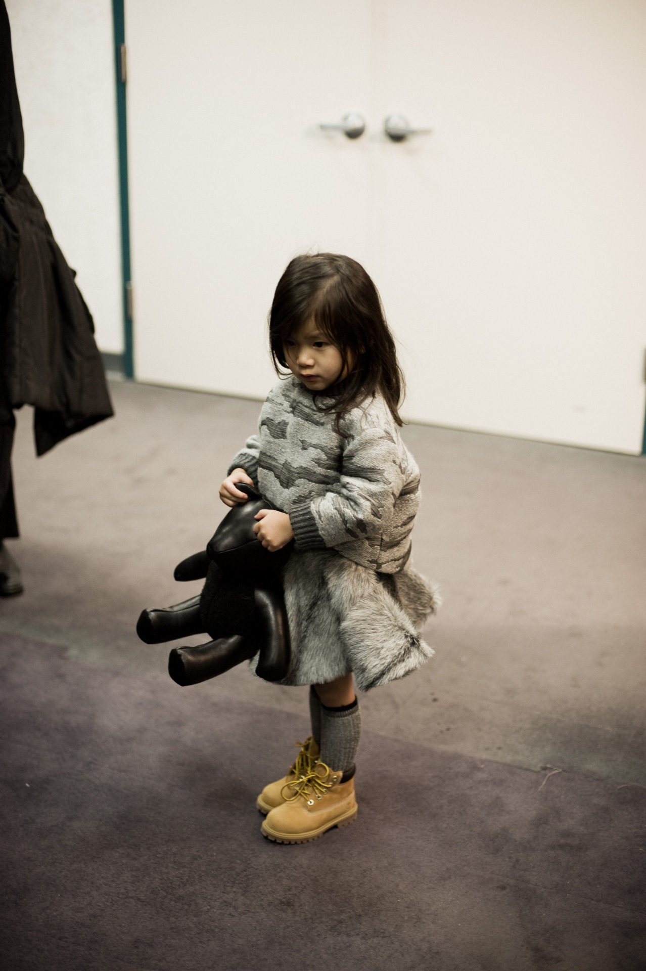 Alexander Wang's niece Aila backstage at Alexander Wang AW13 © Shawn Brackbill for Interview http://www.interviewmagazine.com/fashion/alexander-wang-fw-2013/