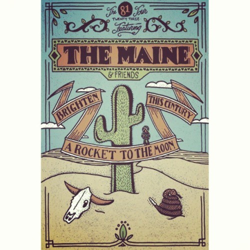 claudiavstheworld:  I am literally crying from excitement #themaine #thiscentury #ARTTM #brighten  Brighten will be touring with The Maine this summer!