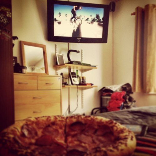 Name that video? #bmx #pizza (at Commit HQ)