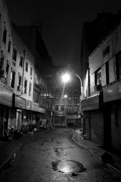 terrysdiary:  Doyers Street in Chinatown on Christmas Eve.