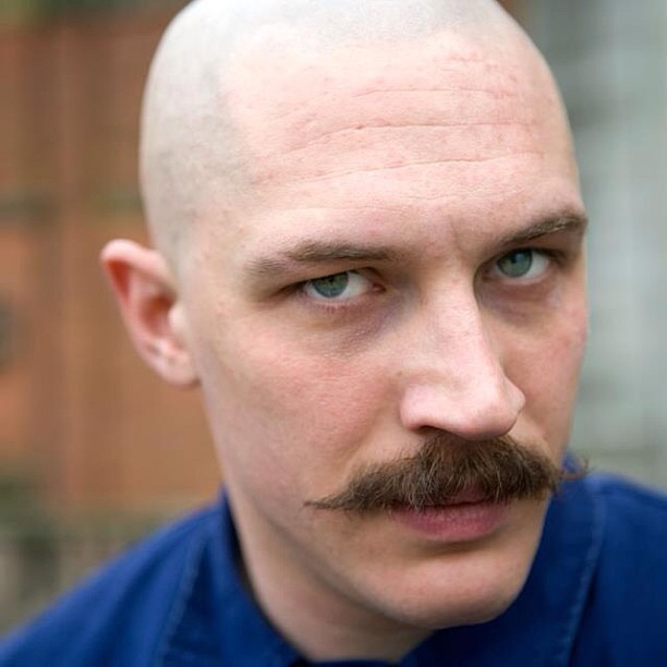 Tom Hardy in Bronson. Completely mesmerizing. I don't know where this came from to begin with, but found here.