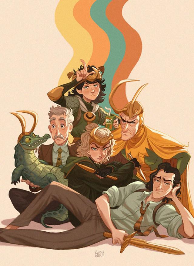 Puny Gods (Loki Disney+) by CuddlyVeedles https://www.artstation.com/artwork/KrYaZo #Puny Gods (Loki Disney+) by CuddlyVeedles #art#illustration#concept art#artist#fantasy