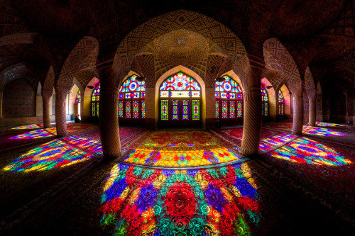 PHOTO: Light through stained glass at a Mosque in Iran - found on imgur