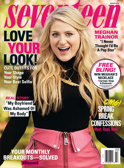 Meghan Trainor on the cover of Seventeen Magazine.