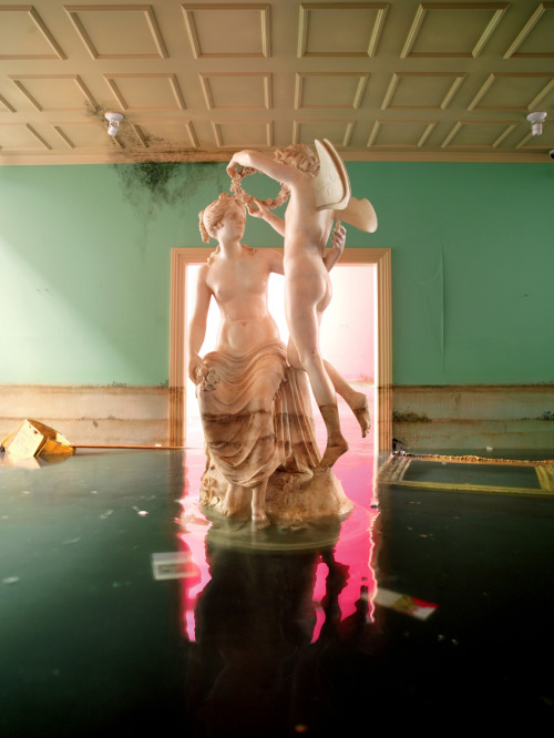 blue-voids:  David LaChapelle - After the Deluge: Statue (2007)