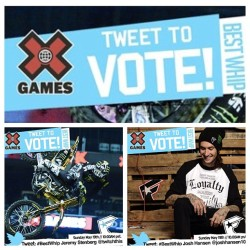 Tweet VOTE for the @fsastagram family @twitchthis1 & @joshhansen100 for #BESTWHIP