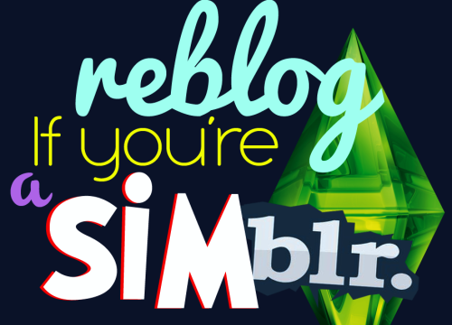 simsfriday:  I need blogs to follow. SO..